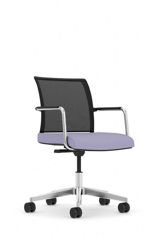 Pledge Jib Lite Task Chair With Mesh Back And Swivel Mechanism And Self Arms, Black Castors